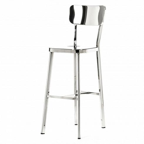 Барный стул Deja-vuБарные<br>Для того чтобы охарактеризовать интерьер стиля хай-тек или функционального конструктивизма, достаточно упомянуть сталь, геометрию, практичность и зеркальный блеск. Японский дизайнер Наото Фукасава сумел виртуозно объединить эти понятия в серии стульев.<br><br><br> Одна из его работ — барный стул Deja-vu. Длинные ножки из полированной стальной трубки с защитными колпачками на концах элегантно удерживают сидение и перекликаются по стилистике с другой иконой дизайна — линейкой Navy от компании Em...<br><br>DESIGNER: Naoto Fukasawa