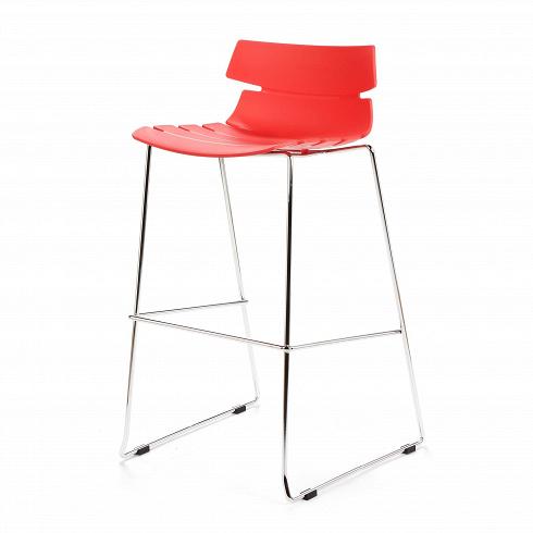 Барный стул TechnoБарные<br>Барный стул Techno — это своего рода интерпретация многофункциональных стульев-раковин. Однако дизайнер ушел от прямого сходства с морской фауной и оставил лишь часть оригинальной задумки, чтобы в конечном виде изделие подходило под большее количество интерьеров.<br> <br> Этот высокий стул можно расположить за барной стойкой или столешницей в стиле хай-тек или техно. Сделанный из металла и полиуретана стул можно также расположить ина открытом воздухе, не волнуясь, что излишняя влага пагу...<br>