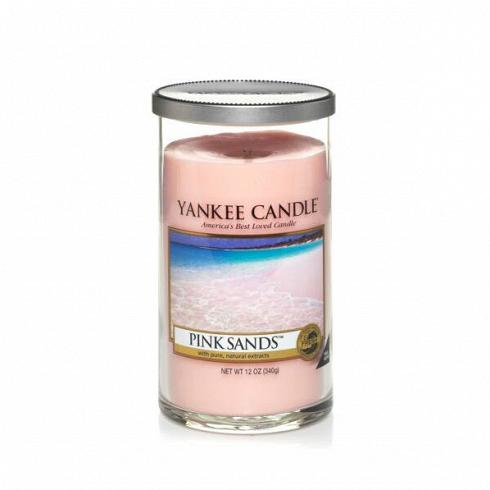Свеча средняя в стеклянном стакане Pink Sands