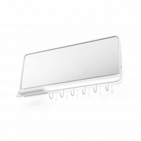 Вешалка с зеркалом Mirror-MeНастенные<br>Вешалка сзеркалом Mirror-Me изколлекции Leitmotiv&amp;mdash; это пример тщательно составленной коллекции домашней мебели ипродуктов освещения.<br>Вешалка сзеркалом Mirror-Me изколлекции Leitmotiv создавалась выдающимися проектировщиками совсего мира; таким образом получилась коллекция, которая всем предлагает возможность добавить прикосновение дизайна ксвоему интерьеру.<br>