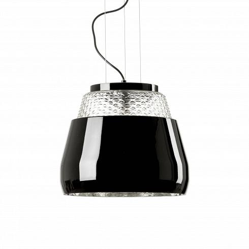 Подвесной светильник Valentine диаметр 35Подвесные<br>Тайное волшебство зеркал и эстетика хрусталя способна превратить любую оболочку в необъятный букет цветов,- говорит датский дизайнерМарсель Вандерс (Marcel Wanders), подаривший нам потрясающий подвесной светильник Valentine.<br> <br> Подвесной светильникValentine -глянцевый черный или белый абажур обрамляющий струящийся свет. Онбудто оберегает драгоценную сердцевину из хрустальных цветов, застывших во времени, столь драгоценную и хрупкую, как воспоминания влюбленны...<br>
