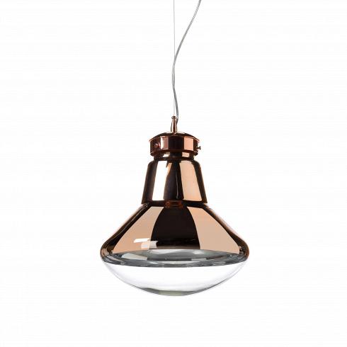 Подвесной светильник Strack 1Подвесные<br>В наш век постмодернизма и эклектики дизайнеры ищут вдохновения повсюду: от окружающей повседневности до инновационных изобретений будущего. Поэтому для подвесного светильника Strack 1 они выбрали узнаваемую форму лампочки накаливания и слегка модифицировали, получив в итоге напоминающий летающую тарелку абажур.<br><br><br> Эта минималистичная лампа отлично подойдет для создания хай-тек-атмосферы, но будет уместно смотреться и с более нейтральными предметами, главное не делать контрасты слишко...<br>