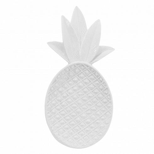 Декоративный поднос в форме ананса белый