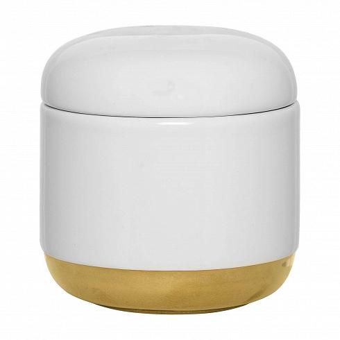 Емкость для хранения с крышкой White & Gold