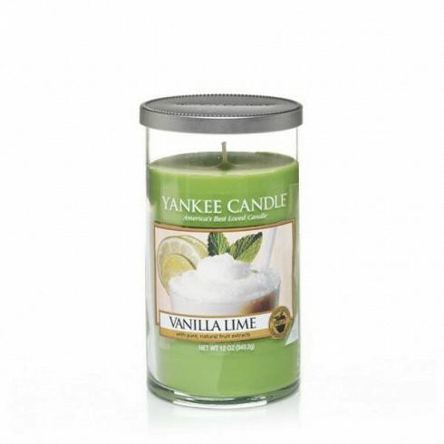 Свеча средняя в стеклянном стакане Vanilla Lime