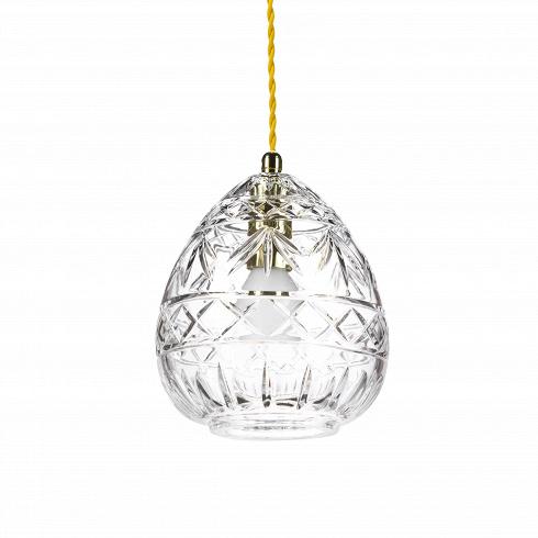 Подвесной светильник Crystal PithosПодвесные<br>А что, позвольте поинтересоваться, ваза забыла у вас на потолке? И почему ко всему прочему она светит?<br> <br> А потому что дизайнерыподвесного светильника Crystal Pithos-большие виртуозы в своем деле. Материал, цвет, объемный узор - все это прямая отсылка к хрустальным вазам, которые по-прежнему хранятся у многих из нас. Но глядя на них никто не ожидал, что из них вышел бы отличный дизайнерский светильник! Свет, проходящий сквозь стенки изделия, изящно преломляется в г...<br>