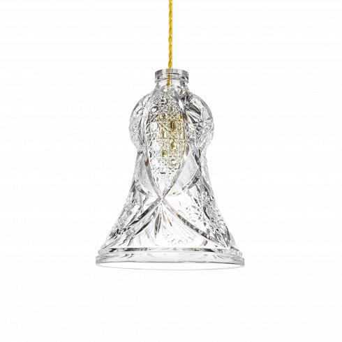 Подвесной светильник Crystal BellПодвесные<br>А что, позвольте поинтересоваться, ваза забыла у вас на потолке? И почему ко всему прочему она светит?<br> <br> А потому что дизайнеры подвесного светильника Crystal Bell - большие виртуозы в своем деле. Материал, цвет, объемный узор - все это прямая отсылка к хрустальным вазам, которые по-прежнему хранятся у многих из нас. Но глядя на них никто не ожидал, что из них вышел бы отличный дизайнерский светильник! Свет, проходящий сквозь стенки изделия, изящно преломляется в гранях рисунка. Не...<br>