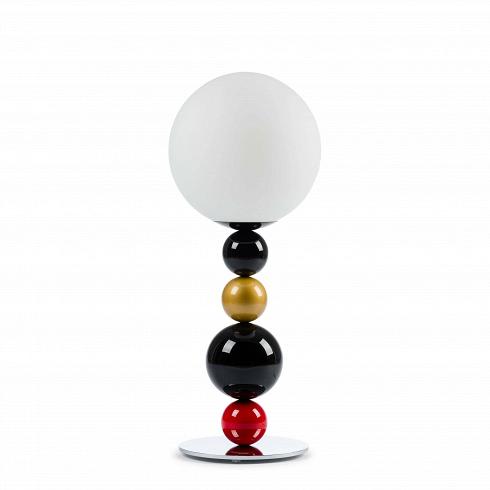 Настольный светильник RGBНастольные<br>Настольный светильник RGB—яркий и стильный вариант, который подойдет тем, кто любит в дизайне яркие и игривые мотивы. Если вы ищете что-то, что с легкостью разбавит ваш интерьер, то этот светильник как раз то, что вам нужно.Благодаря крупной круглой подножке светильник обладает высокой устойчивостью.Плафон лампы выполнен из матового стекла, что создает мягкий и рассеянный свет. При таком освещении очень приятно читать, а проводить спокойные вечера после трудного рабоче...<br><br>DESIGNER: Fredrik Mattson