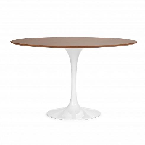 Обеденный стол Tulip с деревянной столешницей диаметр 122Обеденные<br>Ээро Сааринен — крупный представитель американских архитекторов и промышленных дизайнеров. В ходе собственных экспериментов Ээро сформировал собственный неофутуристический стиль. В его направлении преобладает простота иширота структурных кривых. Настоящей находкой архитектора в создании мебели стала модель Tulip («тюльпан») — кресла и столы на одной опоре.<br><br><br> Обеденный стол Tulip с деревянной столешницей диаметр 122 олицетворяет современный стиль и комфорт. Продолжая дизайнерскую...<br><br>DESIGNER: Eero Saarinen