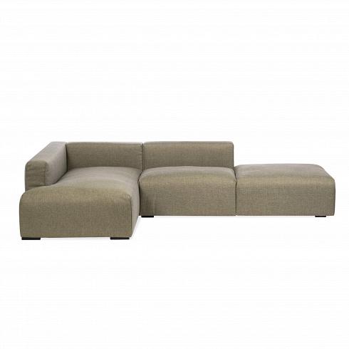 Угловой диван LiamУгловые<br>Дизайнеры компании Sits неустанно радуют нас новыми формами и композициями мягкой мебели. Представленный здесь угловой диван Liam — это элегантность и невероятное удобство, скомбинированныев простую и легкую форму. Диван имеет угловую форму, на выбор имеются две универсальные расцветки: приятный бежево-зеленый и изысканный серо-бежевый цвета.<br><br><br> Диван оснащен небольшими ножками темного цвета и имеет приятную на ощупь тканевую обивку, благодаря чему диван сможет придать атмосфере...<br>