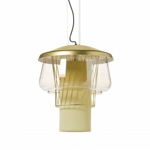 Подвесной светильник Silk Road 1 диаметр 46Подвесные<br>Необычнейший по своему дизайну подвесной светильник Silk Road - яркий дизайн-продукт, который идеально сочетается с любом современным интерьером в стиле техно. Кто бы мог подумать, что из совершенно привычных в изготовлении светильников материалов можно создать столь эффектный Silk Road!<br> <br> Неповторимый дизайн светильника составляет противоречивое сочетание простой геометрии - симметричный многоуровневый силуэт нарушает сетка из наклонных прутьев. В нем собрано все - стекло и металл, ...<br>