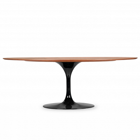 Обеденный стол Tulip овальный с деревянной столешницей Cosmo