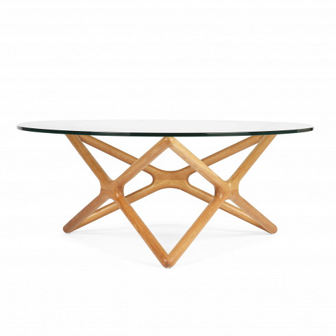 Кофейный стол Triple X высота 41Кофейные столики<br>Необычная геометрия стола влюбляет в себя с первого взгляда. Кажется, будтоживая лиана оплетает стеклянную столешницу. В названии читается особенность конструкции стола. С английского Triple X — «три икс». Схема конструкции будто составлена из трех английских букв X, цикличносоединенных между собой. Сверху же ножки выглядят как пятиконечная звезда. Если смотреть на стол под разным углом, то его геометрия сменяется с абсолютной симметрии на асимметричные формы. Такой необычный...<br><br>DESIGNER: Sean Dix