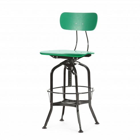 Барный стул Toledo WoodБарные<br>Целевыми помещениями для использования стульев Toledoизначально были офисы, заводы, аптеки и тому подобные места. Однако под влиянием веяний модных дизайнерских тенденций появилась новая модель — для ресторанов, молодежных клубов и баров.<br><br><br> Замысловатый каркас из стали, выполненный в черном или металлическом цвете, представлен системой «паучьи лапки», как назвали это сами дизайнеры. Высота сиденья регулируется при помощи подшипникового механизма и обеспечивает вращение стула во...<br>