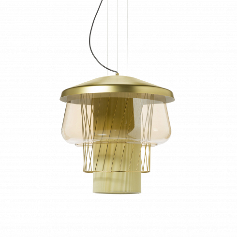 Подвесной светильник Silk Road 1 диаметр 35Подвесные<br>Необычнейший по своему дизайнуподвесной светильник Silk Road- яркий дизайн-продукт, который идеально сочетается с любом современным интерьером в стиле техно. Кто бы мог подумать, что из совершенно привычных в изготовлении светильников материалов можно создать столь эффектный Silk Road!<br> <br>Неповторимый дизайн светильника составляет противоречивое сочетание простой геометрии - симметричный многоуровневый силуэт нарушает сетка из наклонных прутьев. В нем собрано все - стекло и...<br><br>DESIGNER: Jonah Takagi