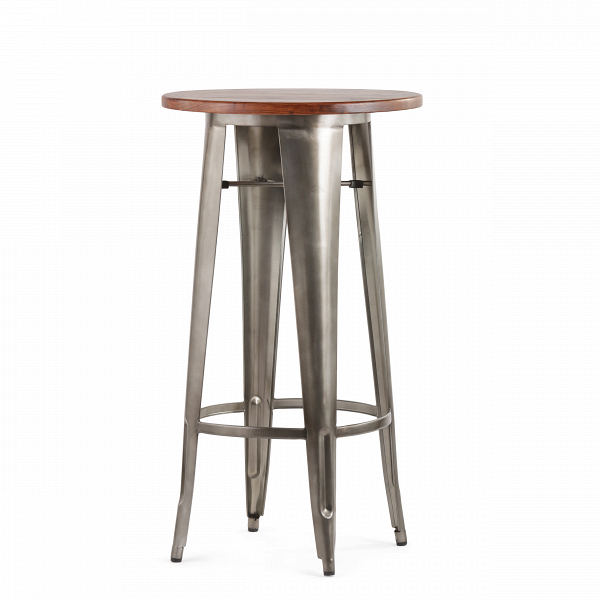 Барный стол Marais VintageБарные<br>Дизайнерский узкий высокий круглый стол Marais Vintage (Мэреиз Винтаж) на стальных ножках от Cosmo (Космо).<br><br><br> В широкий ассортимент коллекции Marais входят столы, кресла и стулья, дизайн который строго выдержан в индустриальном стиле. Стальной каркас, темное патинирование и элементы изВнатуральных пород дерева — характерные черты всех моделей коллекции. Благодаря этому они отлично подходят для декорирования домашних и коммерческих интерьеров в стиле лофт или индастриал.В<br><br><br>...<br><br>stock: 0<br>Высота: 107<br>Диаметр: 60<br>Цвет ножек: Бронза пушечная<br>Цвет столешницы: Антикварный<br>Материал столешницы: Массив ивы<br>Тип материала столешницы: Дерево<br>Тип материала ножек: Сталь<br>Дизайнер: Xavier Pauchard