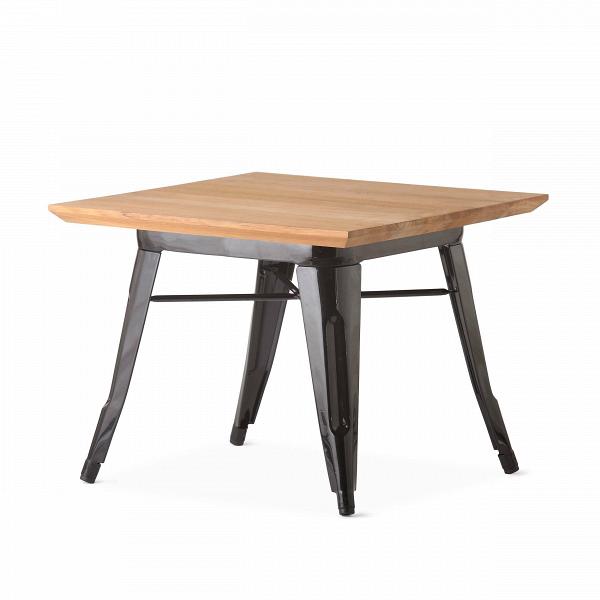 Кофейный стол Petit MaraisКофейные столики<br>Коллекция мебели Marais — это широкий модельный ряд столов, стульев и кресел. Это ставшая классикой мебель, выполненная в индустриальном стиле. Ее дизайнер, француз Ксавье Пошар, изначально разрабатывал ее для производственных предприятий — заводов и фабрик. Но позднее она так понравилась потребителю, что оказалась и в домашнем интерьере.В<br><br> «Маленький» Marais, как переводится название с французского, — это кофейный стол, дизайн которого — результатВорганичного сочетанияВпра...<br><br>stock: 2<br>Высота: 45<br>Ширина: 60<br>Длина: 60<br>Цвет ножек: Черный<br>Цвет столешницы: Коричневый<br>Материал столешницы: Массив тика<br>Тип материала столешницы: Дерево<br>Тип материала ножек: Сталь<br>Дизайнер: Xavier Pauchard