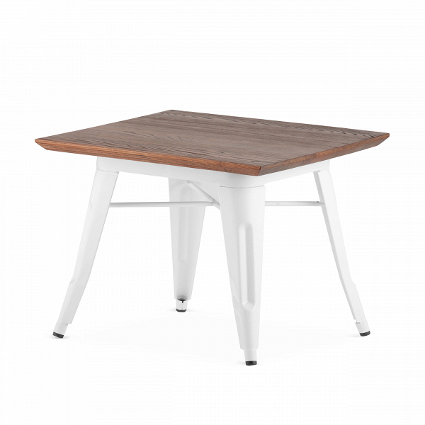 Кофейный стол Petit MaraisКофейные столики<br>Коллекция мебели Marais — это широкий модельный ряд столов, стульев и кресел. Это ставшая классикой мебель, выполненная в индустриальном стиле. Ее дизайнер, француз Ксавье Пошар, изначально разрабатывал ее для производственных предприятий — заводов и фабрик. Но позднее она так понравилась потребителю, что оказалась и в домашнем интерьере.В<br><br> «Маленький» Marais, как переводится название с французского, — это кофейный стол, дизайн которого — результатВорганичного сочетанияВпра...<br><br>stock: 2<br>Высота: 45<br>Ширина: 60<br>Длина: 60<br>Цвет ножек: Белый<br>Цвет столешницы: Коричневый<br>Материал столешницы: Массив ивы<br>Тип материала столешницы: Дерево<br>Тип материала ножек: Сталь<br>Дизайнер: Xavier Pauchard