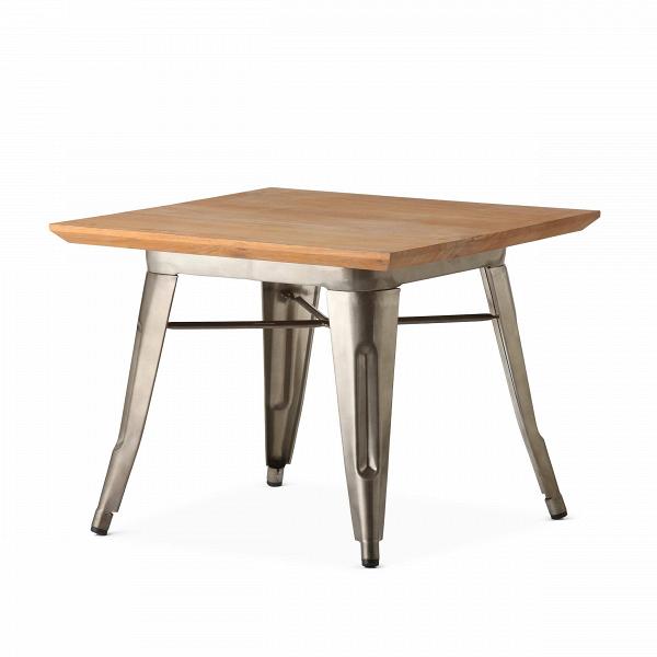 Кофейный стол Petit MaraisКофейные столики<br>Коллекция мебели Marais — это широкий модельный ряд столов, стульев и кресел. Это ставшая классикой мебель, выполненная в индустриальном стиле. Ее дизайнер, француз Ксавье Пошар, изначально разрабатывал ее для производственных предприятий — заводов и фабрик. Но позднее она так понравилась потребителю, что оказалась и в домашнем интерьере.В<br><br> «Маленький» Marais, как переводится название с французского, — это кофейный стол, дизайн которого — результатВорганичного сочетанияВпра...<br><br>stock: 3<br>Высота: 45<br>Ширина: 60<br>Длина: 60<br>Цвет ножек: Бронза пушечная<br>Цвет столешницы: Коричневый<br>Материал столешницы: Массив тика<br>Тип материала столешницы: Дерево<br>Тип материала ножек: Сталь<br>Дизайнер: Xavier Pauchard