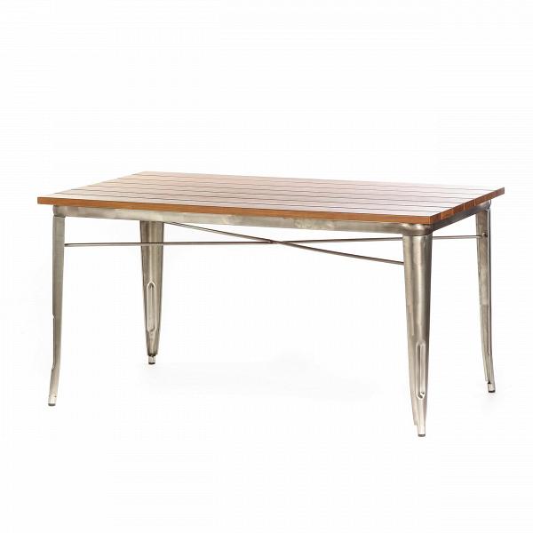Обеденный стол Marais длина 145Обеденные<br>Стол Marais длина 145 — сделан по эскизам дизайнера Ксавье Пошара, считающегося легендой мирового дизайна. Предметы мебели и обихода, разработанные этим дизайнером, отличались надежностью, высоким качеством и предназначались как для домашнего, так и коммерческого использования. Стол Marais можно было встретить и на ярмарках, и в бистро, и на задних двориках. Такую широкую популярность это изделие обрело благодаря прочности своей конструкции из гальванизированной стали, благородной и лакони...<br><br>stock: 0<br>Высота: 73<br>Ширина: 75<br>Длина: 145<br>Цвет ножек: Бронза пушечная<br>Цвет столешницы: Коричневый<br>Материал столешницы: Массив тика<br>Тип материала столешницы: Дерево<br>Тип материала ножек: Сталь<br>Дизайнер: Xavier Pauchard