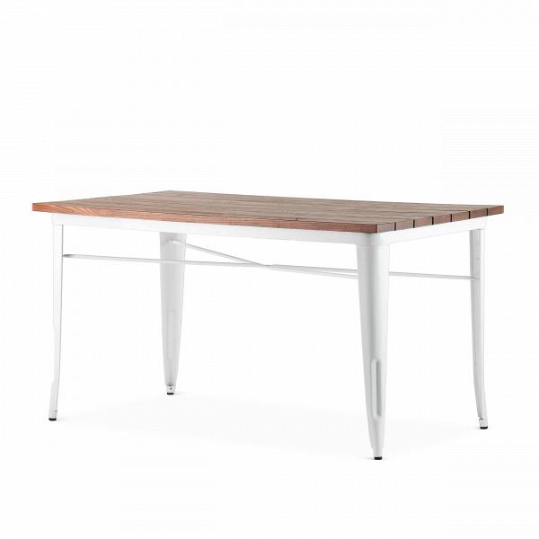Обеденный стол Marais длина 145Обеденные<br>Стол Marais длина 145 — сделан по эскизам дизайнера Ксавье Пошара, считающегося легендой мирового дизайна. Предметы мебели и обихода, разработанные этим дизайнером, отличались надежностью, высоким качеством и предназначались как для домашнего, так и коммерческого использования. Стол Marais можно было встретить и на ярмарках, и в бистро, и на задних двориках. Такую широкую популярность это изделие обрело благодаря прочности своей конструкции из гальванизированной стали, благородной и лакони...<br><br>stock: 0<br>Высота: 73<br>Ширина: 75<br>Длина: 145<br>Цвет ножек: Белый<br>Цвет столешницы: Коричневый<br>Материал столешницы: Массив ивы<br>Тип материала столешницы: Дерево<br>Тип материала ножек: Сталь<br>Дизайнер: Xavier Pauchard