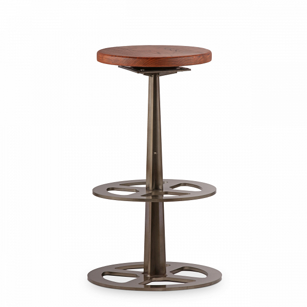 Барный стул ValveБарные<br>Дизайнерский темно-коричневый барный стул Valve (Вэлв) из массива ивы на одной ножке от Cosmo (Космо). <br>Нужен стул, который подчеркнет ваш интерьер в индустриальном стиле, — обратите внимание на барный стул Valve.<br><br> Для этого стиля характерно использование деталей различных двигателей и механизмов, а также темные цвета и натуральная древесина. Всем эти критериям отвечает и оригинальный барный стул Valve. Само название уже отвечает концепции индустриального направления: с английского valve...<br><br>stock: 0<br>Высота: 69<br>Диаметр: 40<br>Тип материала каркаса: Сталь<br>Материал сидения: Массив ивы<br>Цвет сидения: Темно-коричневый<br>Тип материала сидения: Дерево<br>Цвет каркаса: Бронза пушечная