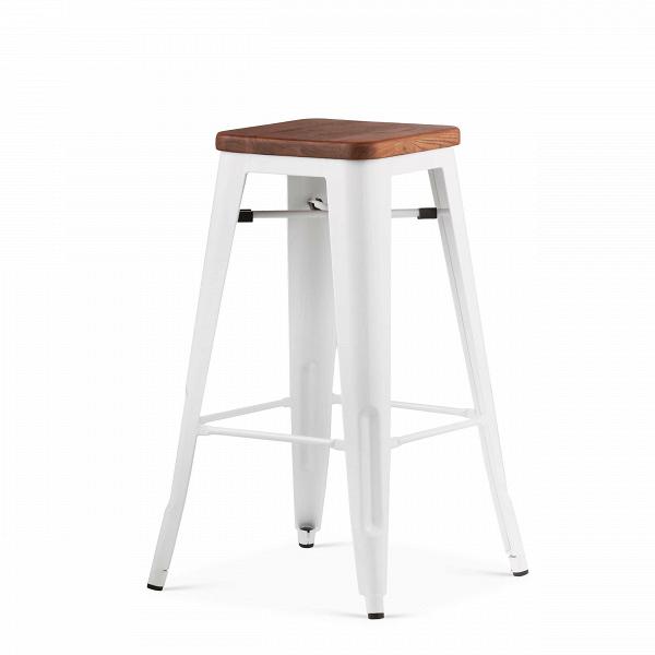 Барный стул Marais 2Барные<br>Дизайнерский высокий барный стул Marais 2 (Марэй) с деревянным сиденьем от Cosmo (Космо). <br>Как и любой элемент мебельной коллекции Marais, данная модель стула обладает высокой прочностью. Дизайн всей линейки изготовлен в едином индустриальном стиле. Каждый элемент конструкции и материал соответствуют стилю, который в последнее времяВстановится все популярнее.<br><br> Оригинальный барный стул Marais 2 — отличный вариант для декорирования кухни в различных современных стилях, среди которых&amp;nb...<br><br>stock: 5<br>Высота: 75<br>Ширина: 44<br>Глубина: 44<br>Тип материала каркаса: Сталь<br>Материал сидения: Массив ивы<br>Цвет сидения: Темно-коричневый<br>Тип материала сидения: Дерево<br>Цвет каркаса: Белый<br>Дизайнер: Xavier Pauchard