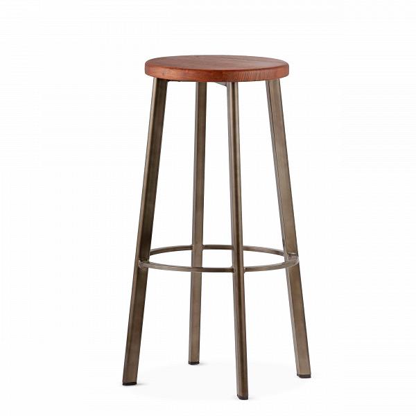 Барный стул StandardБарные<br>Барный стулВStandard отлично подходит для создания кухни в нью-йоркском стиле. Французские панорамные окна с видом на город, красные кирпичные стены, мебель индустриального дизайна — все это характерные черты кухонь в «Большом яблоке».В<br><br><br> Для дизайна интерьеров в этом стиле следует выбирать предметы мебели лаконичных форм и материалов, среди которых металл, дерево, камень.ВМассивные обеденные и барныеВстолы всегда становятся центром композиции. Для таких интерьеров...<br><br>stock: 0<br>Высота: 75<br>Диаметр: 40<br>Цвет ножек: Бронза пушечная<br>Материал сидения: Массив ясеня<br>Цвет сидения: Коричневый<br>Тип материала сидения: Дерево<br>Тип материала ножек: Сталь