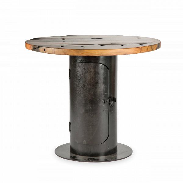 Обеденный стол StoveОбеденные<br>Дизайнерская круглый креативный обеденный стол Stove (Стов) со столешницей из состаренного дерева на толстой металлической ножке от Cosmo (Космо).Стол StoveВобладает дизайном, который невероятно органично смотрится в домашних интерьерах в стиле лофт, а также в кафе и барах. Необычная форма и стилизация изделия делают его по-настоящему запоминающимся элементом декора. Кажется, будто дизайнер, его создавший, придумал новое применение выведенным из эксплуатации фабричным механизмам. Ножка и...<br><br>stock: 2<br>Высота: 75<br>Диаметр: 90<br>Цвет ножек: Ржавчина кофейная<br>Цвет столешницы: Коричневый<br>Материал столешницы: Массив состаренного дерева<br>Тип материала столешницы: Дерево<br>Тип материала ножек: Сталь