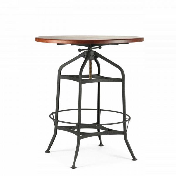 Барный стол Toledo диаметр 80Барные<br>Дизайнерский круглый стол Toledo (Толедо) диаметр 80 с антикварной столешницей от Cosmo (Космо).<br><br>Дизайнерские интерьеры в индустриальном и стимпанк-стилях очень популярны среди современной молодежи. Декор для интерьера в этих стилях подбирается так, чтобы, попадая в него, казалось, будто оказываешься в другомВмире, где существует альтернативная история. Атмосфера таких интерьеров как раз то, что нравится молодым и амбициозным людям, которые ищут от жизни новых эмоций и источников вд...<br><br>stock: 4<br>Высота: 88-102<br>Диаметр: 80<br>Цвет столешницы: Антикварный<br>Материал каркаса: Сталь<br>Материал столешницы: Ива<br>Цвет каркаса: Чёрный гофрированый