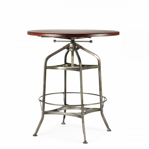 Барный стол Toledo диаметр 80Барные<br>Дизайнерский круглый стол Toledo (Толедо) диаметр 80 с антикварной столешницей от Cosmo (Космо).<br><br>Дизайнерские интерьеры в индустриальном и стимпанк-стилях очень популярны среди современной молодежи. Декор для интерьера в этих стилях подбирается так, чтобы, попадая в него, казалось, будто оказываешься в другомВмире, где существует альтернативная история. Атмосфера таких интерьеров как раз то, что нравится молодым и амбициозным людям, которые ищут от жизни новых эмоций и источников вд...<br><br>stock: 1<br>Высота: 88-102<br>Диаметр: 80<br>Цвет ножек: Бронза пушечная<br>Цвет столешницы: Антикварный<br>Материал столешницы: Массив ивы<br>Тип материала столешницы: Дерево<br>Тип материала ножек: Сталь
