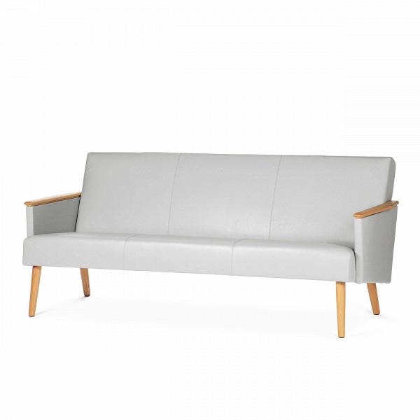 Диван Harry трехместныйТрехместные<br>Дизайнерский кожаный диван Harry (Гарри) на высоких ножках от Cosmo (Космо).<br> Выбор дивана по-настоящему определяет будущую атмосферу и стиль помещения. Важно учесть множество факторов: размер, материал обивки и каркаса, дизайн интерьера, в котором он разместится, его назначение. Будет диван стоять в деловом офисе или уютной гостиной? Все это необходимо иметь в виду при выборе такого важного предмета мебели.<br><br><br> Оригинальный диван Harry трехместный порадует вас своей стильной формой и стр...<br><br>stock: 1<br>Высота: 77,5<br>Глубина: 79,5<br>Длина: 185<br>Материал каркаса: Массив дуба<br>Тип материала каркаса: Дерево<br>Коллекция ткани: Harry Leather<br>Тип материала обивки: Кожа<br>Цвет обивки: Темно-серый<br>Цвет каркаса: Дуб