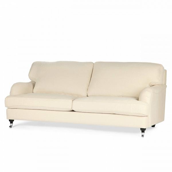 Диван HowardТрехместные<br>Дизайнерский двухместный диван Howard (Говард) с тканевой обивкой на деревянных ножках от Sits (Ситс).<br> Стать любимцем всей семьи и главным героем гостиной? Легко! Диван Howard создан специально для этого. Главный девиз европейской мебельной компании Sits — «комфортная жизнь». Именно поэтому изделия Sits отличаются удобством и внешней привлекательностью.<br><br><br> Мягкие подушки, удобные лаконичные подлокотники, приятный жемчужно-бежевый оттенок обивки — все это делает оригинальный диван Howar...<br><br>stock: 1<br>Высота: 84<br>Глубина: 102<br>Длина: 205<br>Цвет ножек: Черный<br>Высота подлокотников: 44<br>Материал обивки: Хлопок, Лен<br>Степень комфортности: Стандарт комфорт<br>Коллекция ткани: Категория ткани II<br>Тип материала обивки: Ткань<br>Тип материала ножек: Дерево<br>Цвет обивки: Бежевый