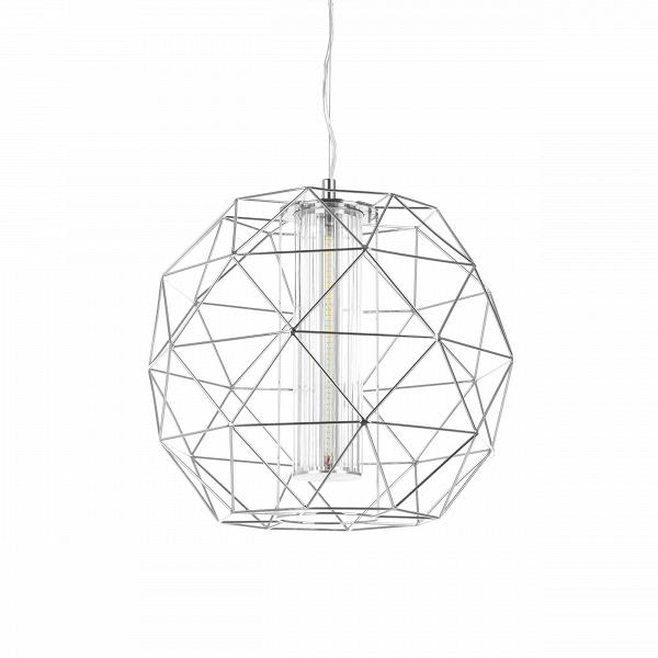 Подвесной светильник Diamond диаметр 40Подвесные<br>Подвесной светильник Diamond диаметр 40 по праву можно назвать бриллиантом для любого интерьера. Сейчас стиль хай-тек, в котором выполнена эта вещь, особенно актуален. Благодаря геометричности форм и прямым линиям светильник смотрится очень стильно.<br><br><br> Пожалуй, любая девушка, увидев эту дизайнерскую вещь, не устояла бы перед тем, чтобы украсить ею свой интерьер. Тем не менее нейтральный цвет делает светильник привлекательным не только для «женских» интерьеров, но и для любых гостиных, ...<br><br>stock: 0<br>Высота: 180<br>Диаметр: 40<br>Материал абажура: Металл<br>Ламп в комплекте: Нет<br>Напряжение: 220<br>Тип лампы/цоколь: LED<br>Цвет абажура: Хром