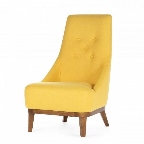 Кресло DonnaИнтерьерные<br>Дизайнерское комфортное кресло Donna (Дона) с обивкой из ткани на черных ножках от Sits (Ситс).<br><br><br> Двадцать лет назад, на заре своей карьеры, супруги Эрик и Майе Неcстрем нарезали ткань для изготовления своих кресел иВдиванов вручную, ими двигала страсть к своему делу. И сейчас сотрудники компании со шведскими корнями Sits — мастера воВвсем, что касается производства мягкой мебели: пуфов, кресел, модульных диванов.<br><br><br> Лаконичный дизайн и практичная форма кресла идеальны дл...<br><br>stock: 0<br>Высота: 97<br>Высота сиденья: 40<br>Ширина: 60<br>Глубина: 80<br>Цвет ножек: Орех<br>Материал обивки: Шерсть, Полиамид<br>Степень комфортности: Стандарт комфорт<br>Коллекция ткани: Категория ткани III<br>Тип материала обивки: Ткань<br>Тип материала ножек: Дерево<br>Цвет обивки: Желтый