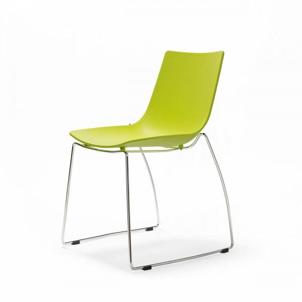 Стул CafeteriaИнтерьерные<br>Дизайнерский легкий стул Cafeteria (Кафетерия) из полипропилена на тонких стальных ножках от Cosmo (Космо).<br><br>     Лето, легкий теплый ветерок, открытые веранды, маленькие уютные уличные кафе. За счет лаконичности формы, легкости и функциональности стул Cafeteria<br>    станет незаменимым атрибутом для барных зон, открытых кафе и патио. Яркая палитра представленных вариантов: зеленый, красный, белый, черный — позволяет подобрать требуемые цветовые акценты и создать нужное настроение, соответст...<br><br>stock: 1<br>Высота: 83<br>Высота сиденья: 45<br>Ширина: 55<br>Глубина: 59<br>Цвет ножек: Хром<br>Цвет сидения: Зеленый<br>Тип материала сидения: Полипропилен<br>Тип материала ножек: Сталь нержавеющая