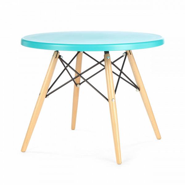 Кофейный стол EiffelКофейные столики<br>Дизайнерский стильный кофейный стол Eiffel (Айффел) с круглой столешницей на четырех светло-коричневых ножках от Cosmo (Космо).<br><br><br><br><br> Выполненный в стилистике 60-х годов кофейный стол Eiffel отвечает требованиям к мебели тех времен. Особенно ценились такие качества мебели, как функциональность и лаконичность. Обязательным элементом считались ножки (в данном случае — деревянные), устойчивые и при этом не массивные, которые делали пространство более легким и визуально «прозрачным». К том...<br><br>stock: 6<br>Высота: 47<br>Диаметр: 60<br>Цвет ножек: Светло-коричневый<br>Тип материала каркаса: Полипропилен<br>Тип материала ножек: Дерево<br>Цвет каркаса: Голубой