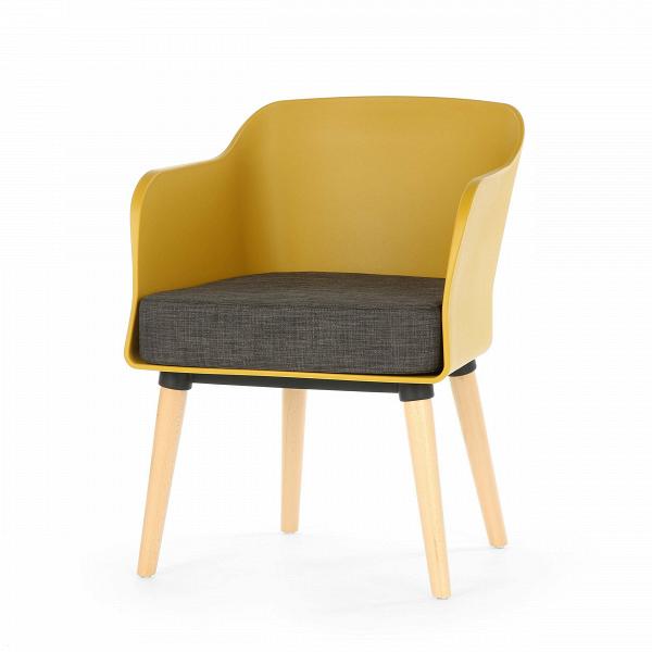 Кресло Montreal 1Интерьерные<br>Дизайнерское легкое кресло Montreal 1 (Монреаль 1) со спинкой из полипропилена на деревянных ножках от Cosmo (Космо).<br><br><br> Минимализм — это не столько стиль, сколько образ жизни. Создать дома спокойную атмосферу, в которую будет приятно окунуться после городского дня — настоящее искусство. К счастью, дизайнеры уже позаботились о нас. Представленное в горчичном и иссиня-черном цветах кресло Montreal 1<br>являет собой идеальный пример минимализма вВинтерьере. Основными цветами данного с...<br><br>stock: 9<br>Высота: 76<br>Ширина: 57<br>Глубина: 61<br>Цвет ножек: Светло-коричневый<br>Материал ножек: Массив бука<br>Тип материала каркаса: Полипропилен<br>Тип материала обивки: Ткань<br>Тип материала ножек: Дерево<br>Цвет обивки: Тёмно-коричневый<br>Цвет каркаса: Горчичный