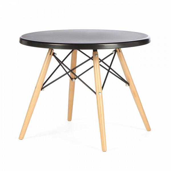 Кофейный стол EiffelКофейные столики<br>Дизайнерский стильный кофейный стол Eiffel (Айффел) с круглой столешницей на четырех светло-коричневых ножках от Cosmo (Космо).<br><br><br><br><br> Выполненный в стилистике 60-х годов кофейный стол Eiffel отвечает требованиям к мебели тех времен. Особенно ценились такие качества мебели, как функциональность и лаконичность. Обязательным элементом считались ножки (в данном случае — деревянные), устойчивые и при этом не массивные, которые делали пространство более легким и визуально «прозрачным». К том...<br><br>stock: 14<br>Высота: 47<br>Диаметр: 60<br>Цвет ножек: Светло-коричневый<br>Тип материала каркаса: Полипропилен<br>Тип материала ножек: Дерево<br>Цвет каркаса: Черный