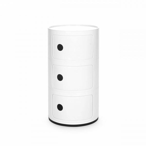 Тумба Componibili с 3 отсекамиТумбы и комоды<br>Мебель для хранения из коллекции Componibili от известного итальянского дизайнера Анны Кастелли Феррьери — это причудливый, но определенно стильный дизайн. Каждая из моделей коллекции отлично сочетается с рядом других, их размеры и формы комбинируются и позволяют составлять новые и новые предметы мебели, подходящих под ваши нужды.В<br> <br> Тумба Componibili с 3 отсеками — модель, которую можно использовать как самостоятельную, так и как приставную часть.<br><br>stock: 1<br>Высота: 58,5<br>Диаметр: 32<br>Материал каркаса: Пластик<br>Цвет каркаса: Белый<br>Дизайнер: Anna Castelli Ferrieri