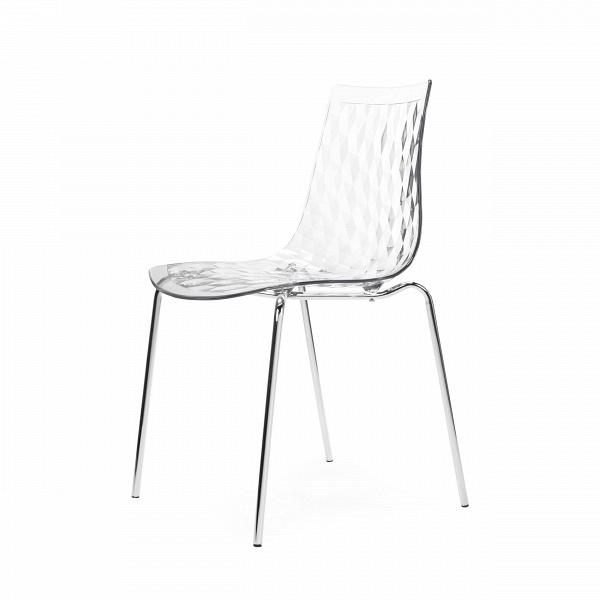 Стул GauzyИнтерьерные<br>Дизайнерский легкий светлый стул Gauzy (Гаузи) из поликарбоната на тонких стальных ножках от Cosmo (Космо).<br><br>     Приятный лаконичный дизайн стула Gauzy обязательно порадует даже самых строгих ценителей современного дизайна. Мягкие изгибы стула не только хороши на вид, но на нем и комфортно сидеть.В<br><br><br>     Необычное оригинальное ребристое тиснение на поверхности сиденья — одна из основных особенностей дизайна изделия. Также очень примечательным является выбор материала. Поликарбонат...<br><br>stock: 1<br>Высота: 83,5<br>Высота сиденья: 47<br>Ширина: 51,5<br>Глубина: 50,5<br>Цвет ножек: Хром<br>Материал каркаса: Поликарбонат<br>Тип материала каркаса: Пластик<br>Тип материала ножек: Сталь нержавеющая<br>Цвет каркаса: Прозрачный
