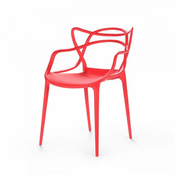 Стул MastersИнтерьерные<br>Этот изящный стул придумал гуру современного дизайна Филипп Старк. «Мы родились не сегодня. И до нас были мастера», — рассуждал Старк. И по его задумке хитросплетения этого стула должны ассоциироваться с росчерками трех великих мастеров и тремя же великими произведениями. Соединив их вместе, в одном ярком предмете мебели, неутомимый фантазер Старк создал «новый продукт, новый проект — как отражение нашего нового общества», по собственному выражению дизайнера.<br><br><br> Модель изготовлена из ...<br><br>stock: 0<br>Высота: 83<br>Высота сиденья: 46<br>Ширина: 55<br>Глубина: 54.5<br>Тип материала каркаса: Полипропилен<br>Цвет каркаса: Красный<br>Дизайнер: Philippe Starck
