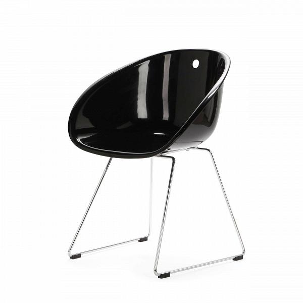 Стул ВistroИнтерьерные<br>Дизайнерский однотонный минималистичный стул-чаша Вistro (Вistro) на тонких стальных ножках от Cosmo (Космо).<br><br> Стул Bistro — это предмет, изготовленный из высокотехнологичных материалов, популярных в производстве офисной мебели. Используемый в производстве полипропилен невысок по цене. Он стоек ко всевозможным температурным перепадам, грубому механическому воздействию, а также к попаданию прямых солнечных лучей и влаге. Именно поэтому стул Bistro подходит для офисных помещений. Ножки стула...<br><br>stock: 1<br>Высота: 75<br>Высота сиденья: 45<br>Ширина: 54,5<br>Глубина: 58,5<br>Цвет ножек: Хром<br>Тип материала каркаса: Полипропилен<br>Тип материала ножек: Сталь нержавеющая<br>Цвет каркаса: Черный