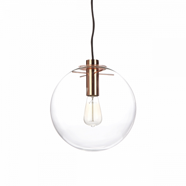 Подвесной светильник Selene диаметр 30Подвесные<br>Когда этот светильник загорается, он похож на светлячка в темноте. Его теплый рассеивающийся свет согревает каждый уголок помещения, а оригинальный и вместе с тем необычайно простой дизайн отличаются редкой универсальностью, которая позволяет светильнику вписаться в интерьер любого пространства.<br><br><br> Подвесной светильник Selene диаметр 30 — работа Сандры Линднер, которая в свое время так понравилась известному английскому дизайнеру Теренсу Конрану, что он выбрал именно этот светильник дл...<br><br>stock: 0<br>Высота: 180<br>Диаметр: 30<br>Количество ламп: 1<br>Материал абажура: Стекло<br>Материал арматуры: Металл<br>Мощность лампы: 60<br>Ламп в комплекте: Нет<br>Напряжение: 220<br>Тип лампы/цоколь: E27<br>Цвет абажура: Прозрачный<br>Цвет арматуры: Золото розовое<br>Дизайнер: Sandra Lindner