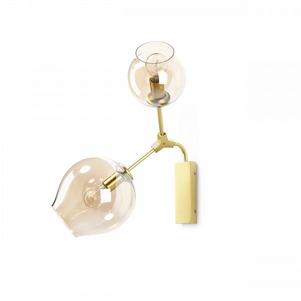 Настенный светильник Branching BubblesНастенные<br>Для создания невероятно эффектного настенного светильника Branching Bubbles применяется техника ручного выдувания стекла. Сферы делают заведомо неровными, словно слегка примятыми, что сродни природным натуральным фактурам. Именно таким способом американский дизайнер Линдси Адельман воплощает в своих шедеврах образы природы и, комбинируя их с индустриальными технологиями, позволяет создавать самые неожиданные образы в жилых помещениях.<br><br><br> Стержни, на которых закреплены лампы, изготовле...<br><br>stock: 0<br>Высота: 30<br>Ширина: 62<br>Диаметр: 60<br>Количество ламп: 2<br>Материал абажура: Стекло<br>Материал арматуры: Металл<br>Мощность лампы: 40<br>Ламп в комплекте: Нет<br>Напряжение: 220<br>Тип лампы/цоколь: E27<br>Цвет абажура: Прозрачный<br>Цвет арматуры: Золотой<br>Дизайнер: Lindsey Adams Adelman
