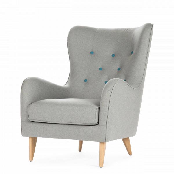 Кресло PolaИнтерьерные<br>Дизайнерское мягкое удобное кресло Pola (Пола) с тканевой обивкой от Sits (Ситс).<br><br><br> Дизайнеры компании Sits, чья мебель имеет выраженные шведские черты, не перестает радовать новыми моделями мягкой мебели. Изящные и невероятно удобные формы кресла Pola помогут вам расслабиться и отдохнуть даже в самый разгар трудового дня. На выбор имеется большое количество вариантов цветового исполнения обивки кресла, благодаря чему вы легко подберете именно то, что лучше всего подойдет вашей комнате...<br><br>stock: 0<br>Высота: 102<br>Высота сиденья: 45<br>Ширина: 77<br>Глубина: 96<br>Цвет ножек: Дуб<br>Материал обивки: Шерсть, Полиамид<br>Степень комфортности: Стандарт комфорт<br>Материал пуговиц: Шерсть, Полиамид<br>Цвет пуговиц: Бирюзовый<br>Коллекция ткани: Категория ткани III<br>Тип материала обивки: Ткань<br>Тип материала ножек: Дерево<br>Цвет обивки: Светло-серый