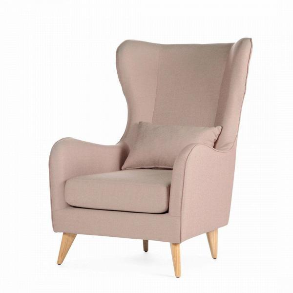 Кресло GretaИнтерьерные<br>Дизайнерское классическое удобное однотонное кресло Greta (Грета) с обивкой из хлопка, льна от Sits (Ситс).<br><br><br> Если вы ищете комфортное Ви красивое кресло, которое сможет подойти как для личного отдыха, так и для уютного рабочего кабинета, то кресло Greta заслуживает вашего особого внимания. Его удобная, анатомической формы спинка и не менее удобные подлокотники способствуют действительно качественному отдыху и не дадут утомиться вашей спине. Расположенные с двух сторон «уши» позво...<br><br>stock: 0<br>Высота: 108<br>Высота сиденья: 45<br>Ширина: 77<br>Глубина: 93<br>Цвет ножек: Дуб<br>Материал обивки: Хлопок, Лен<br>Степень комфортности: Стандарт комфорт<br>Коллекция ткани: Категория ткани II<br>Тип материала обивки: Ткань<br>Тип материала ножек: Дерево<br>Цвет обивки: Розовый