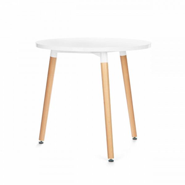 Обеденный стол FlexaОбеденные<br>Выполненный в стилистике 60-х годов стол Flexa отвечает требованиям к мебели тех времен. Особенно ценились такие качества мебели, как функциональность и лаконичность. Обязательным элементом считались ножки (в данном случае — деревянные), устойчивые и при этом не массивные, которые делали пространство более легким и визуально «прозрачным». К тому же такое решение существенно упрощало уборку помещения. Высоко ценилась простота и отсутствие излишнего декора, и гладкая белая поверхность стола...<br><br>stock: 0<br>Высота: 73<br>Диаметр: 80<br>Цвет ножек: Светло-коричневый<br>Цвет столешницы: Белый<br>Тип материала столешницы: МДФ<br>Тип материала ножек: Дерево