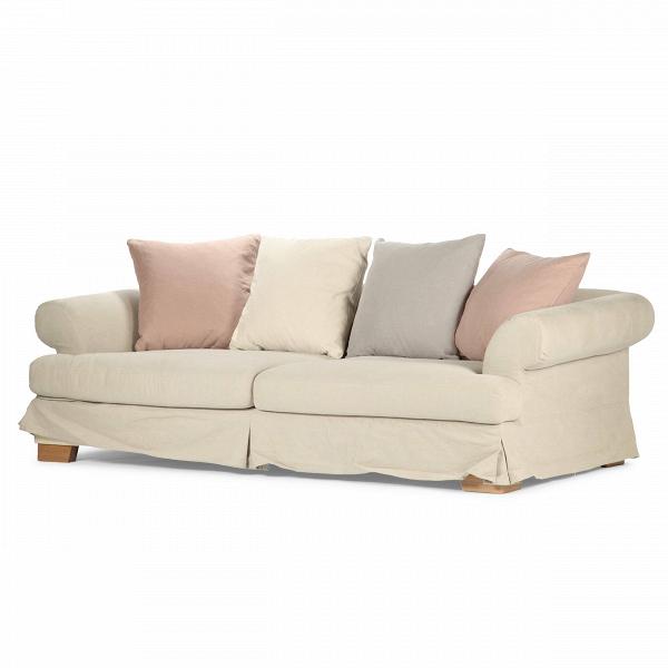 Диван Carlos со съемным чехломТрехместные<br>Дизайнерский серо-бежевый комфортный диван Carlos (Карлос) с обивкой из хлопока и льна от Sits (Ситс).<br> Невероятный уют и умиротворение — вот черты, которые прекрасно характеризуют трехместный диван Carlos со съемным чехлом. Мягкие, нежные цвета подушек и обивки дивана не только гармонично сочетаются друг с другом, но и легко подарят вашему интерьеру ощущение комфорта и тепла. Для компании Sits этот диван можно считать очередным шедевром уютной, комфортной мягкой мебели.<br><br><br> Едва заметны...<br><br>stock: 0<br>Высота: 90<br>Высота сиденья: 40<br>Глубина: 108<br>Длина: 236<br>Цвет ножек: Дуб<br>Материал обивки: Хлопок, Лен<br>Степень комфортности: Стандарт комфорт<br>Коллекция ткани: Категория ткани II<br>Тип материала обивки: Ткань<br>Тип материала ножек: Дерево<br>Цвет обивки: Серо-бежевый