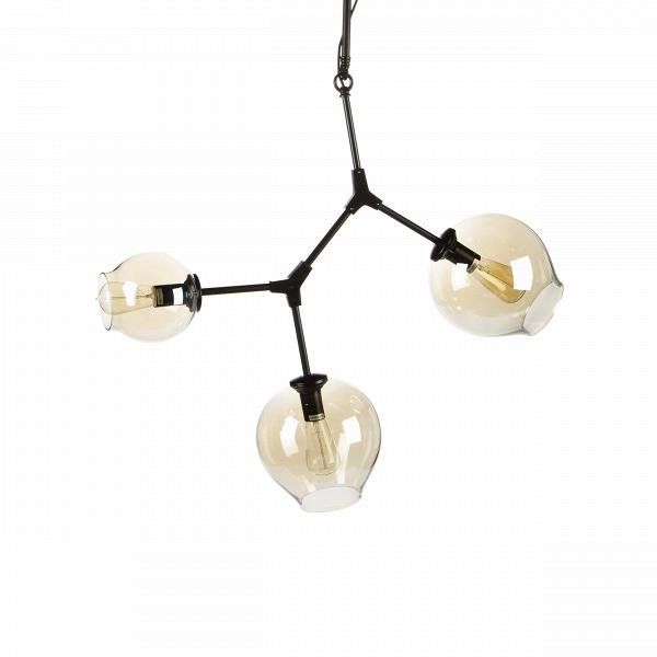 Подвесной светильник Branching Bubbles 3 лампыПодвесные<br>Этот подвесной светильник не оставит равнодушными тех, кто стремится привнести частичку природы в свой дом. Он является настоящим хитросплетением форм и материалов: металлические крепления, напоминающие ветки, завершаются выдутыми вручную стеклянными плафонами. Светильник похож на цветущее дерево — это работа американского промышленного дизайнера Линдси Адельман, которая черпает свое вдохновение именно из выразительных природных сочетаний.<br><br><br> Подвесной светильник Branching Bubbles 3 ла...<br><br>stock: 0<br>Высота: 120<br>Диаметр: 85<br>Количество ламп: 3<br>Материал абажура: Стекло<br>Материал арматуры: Металл<br>Мощность лампы: 40<br>Ламп в комплекте: Нет<br>Напряжение: 220<br>Тип лампы/цоколь: E27<br>Цвет абажура: Прозрачный<br>Цвет арматуры: Черный матовый<br>Дизайнер: Lindsey Adams Adelman